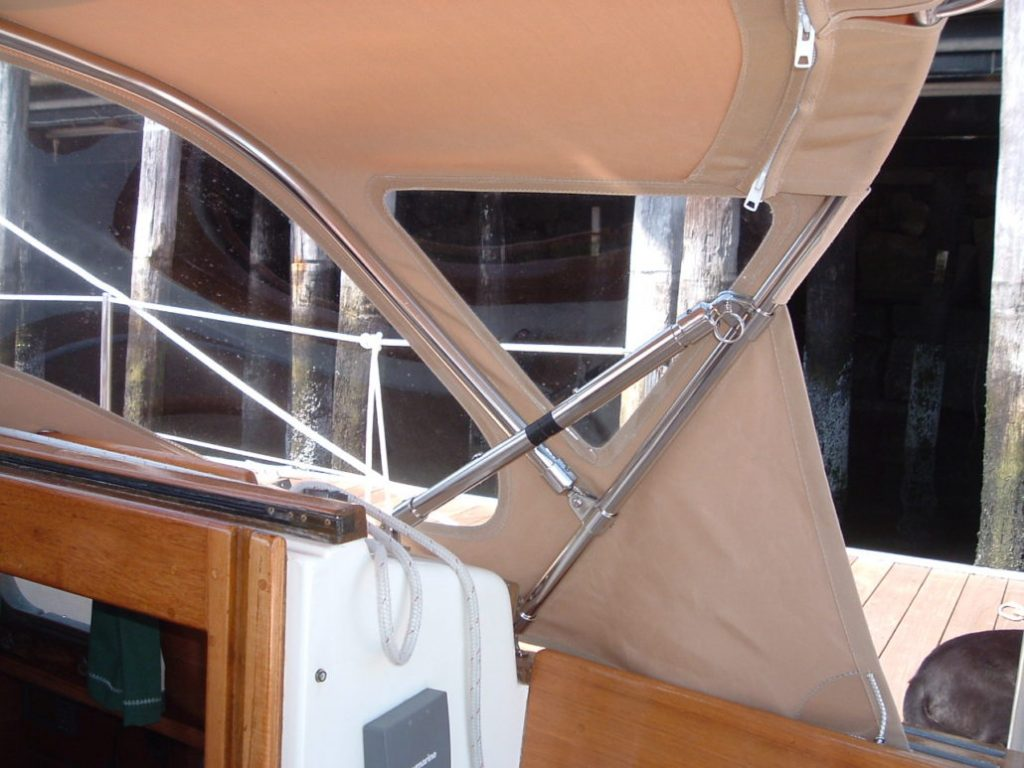 Pusher bars for boat canvas 2 boat canvas