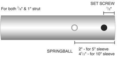 Gemini Marine Products GemLock folding strut diagram
