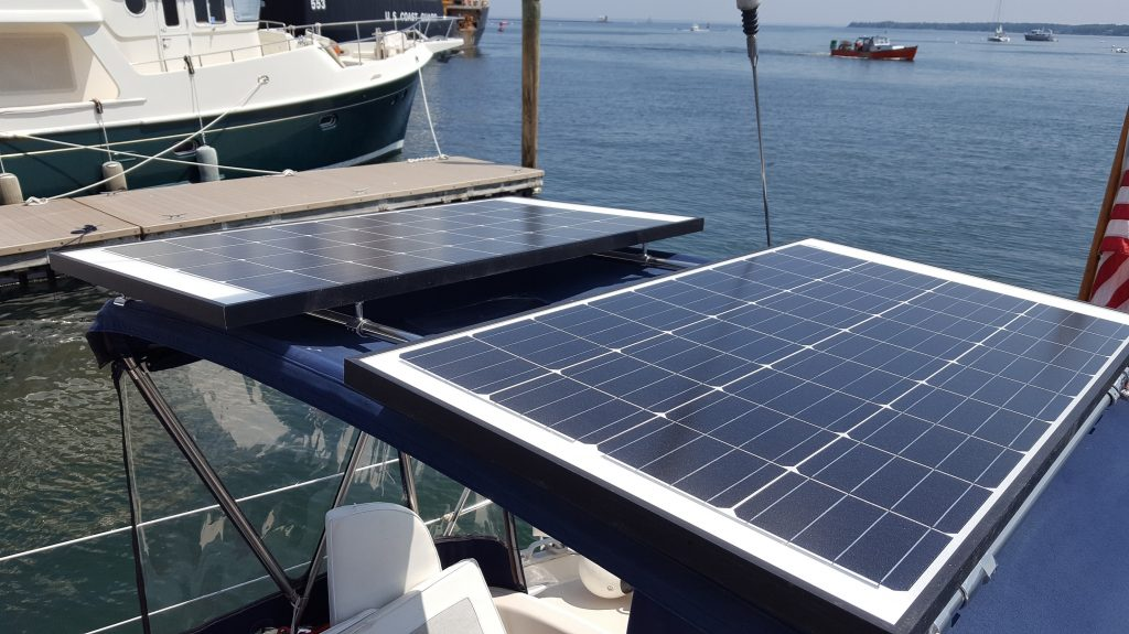 Gemini Marine Products support solar panels