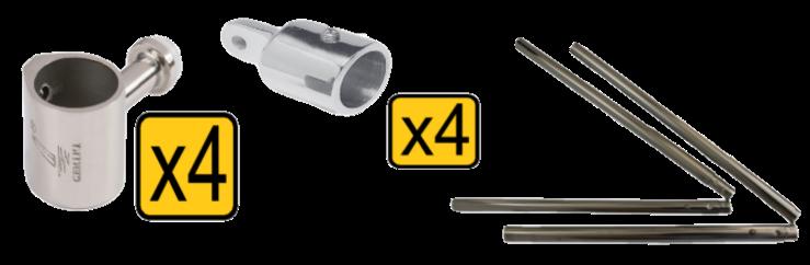 Strapless bimini conversion kits 6 bimini