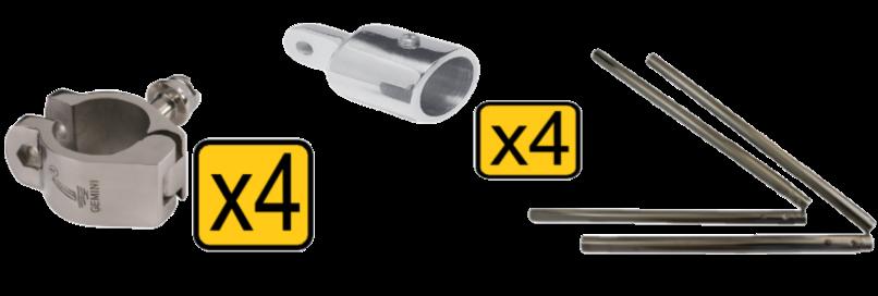 Strapless bimini conversion kits 7 bimini