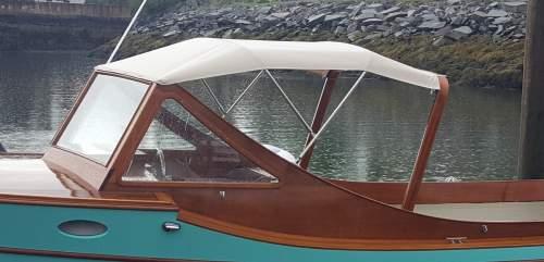 Dodger on a picnic boat.